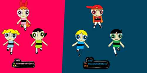 Powerpuff Girls and Rowdyruff Boys achtergrond probably containing anime entitled the powerpuff girls and the rowdyruff boys