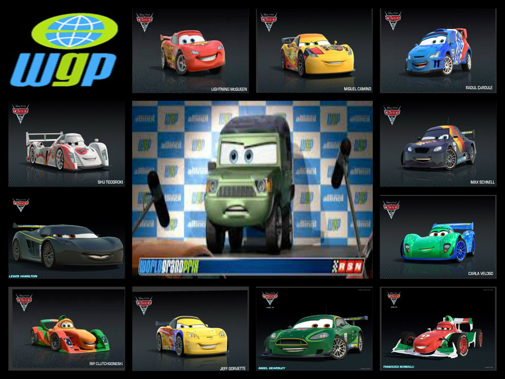 World Grand Prix Collage Disney Pixar Cars Fan Art 35206959