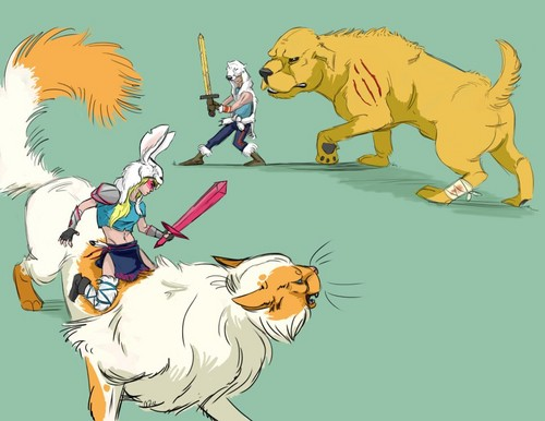 Adventure Time With Finn and Jake wolpeyper with anime titled worlds collide...