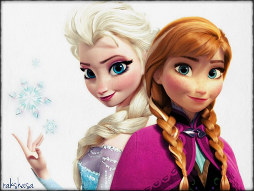 Princess Anna kertas dinding possibly with a portrait titled ★ Anna & Elsa ☆