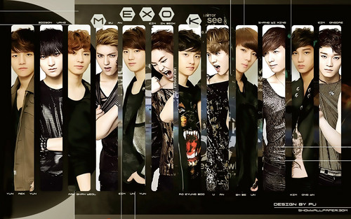 EXO wallpaper possibly containing a well dressed person and long trousers called ~EXO!<3