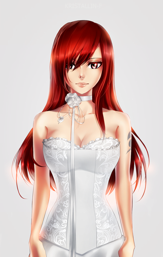 fairy tail wallpaper probably with a coquetel dress, a jantar dress, and a bustier, bustiê called ~Fairy Tail♥