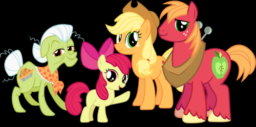 My Little Pony Friendship is Magic wallpaper possibly with anime entitled A Part of the Apple Family