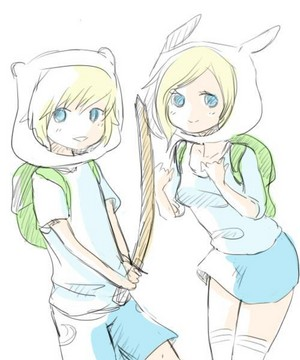 Adventure Time, with Finn and Fionna