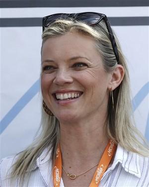 Amy Smart, NASCAR at Michigan International Speedway in Brooklyn Aug. 18, 2013.