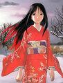 Anime Girl Wearing Kimono