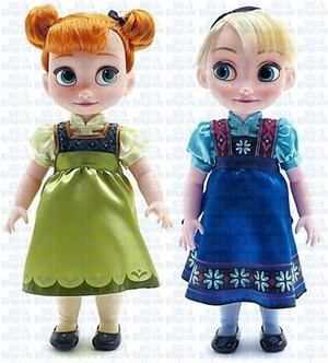 Anna and Elsa toddler dolls from Disney Store.
