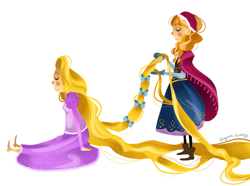 Princess Anna kertas dinding possibly containing a bouquet called Anna and Rapunzel