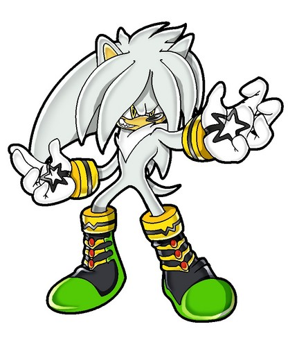 Silver the Hedgehog wallpaper with anime called Anti-Silver (Steel)