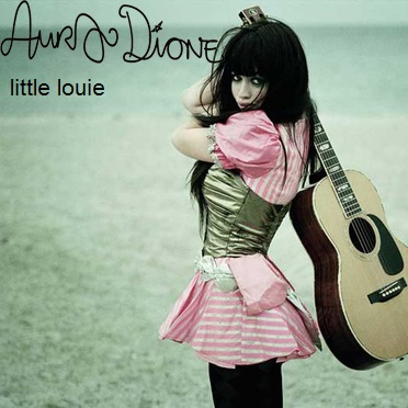 Aura Dione Fanclub দেওয়ালপত্র possibly with a guitarist titled Aura Dione - Little Louie