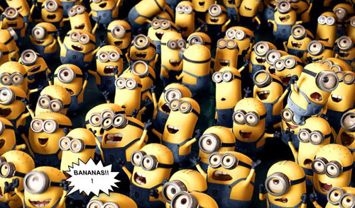 Despicable Me Minions wallpaper possibly with a pinto bean titled BANANAS!