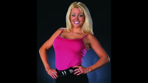 Former WWE Diva & Miss TNA... Kathy Dingman achtergrond probably with a bustier, a leotard, and tights called BB - WWE.COM foto