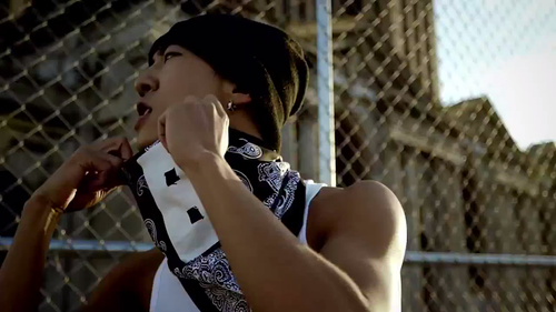 Bang Yong Guk wallpaper with a chainlink fence called Bang Yong Guk