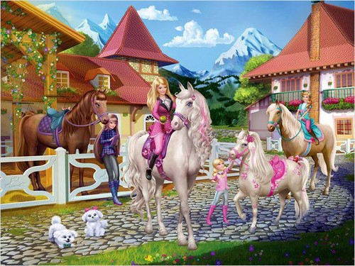 Barbie & Her Sisters with their ponies