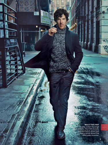 Benedict Cumberbatch wallpaper containing a business suit, a well dressed person, and a street titled Benedict Cumberbatch - Vogue 2013