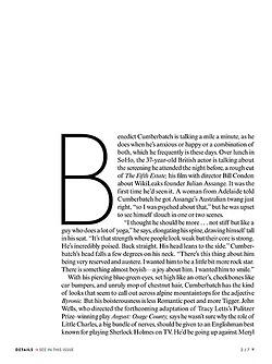 Benedict Cumberbatch kertas dinding entitled Benedict Cumberbatch - Vogue 2013