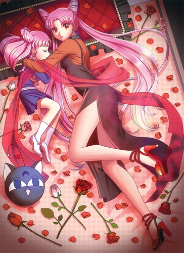 Sailor Mini moon (Rini) wallpaper called Black Lady and Rini