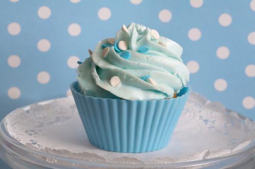 Blue कप केक