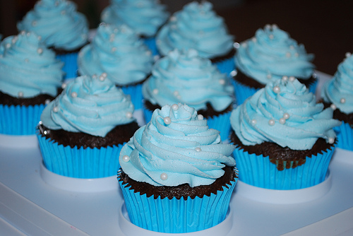 Blue Cupcake - Colors Photo (35336000) - Fanpop