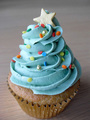 Blue Cupcake - colors photo