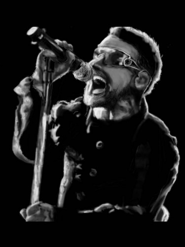 U2 wolpeyper possibly containing a konsiyerto called Bono (drawing)