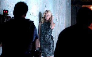 Candice at TVD Season 5 Promotional Photoshoot - Behind the Scenes