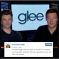 Chris's loving memorial to Cory<3 - cory-monteith-and-chris-colfer photo
