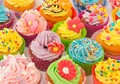 Colourful Cupcake - colors photo