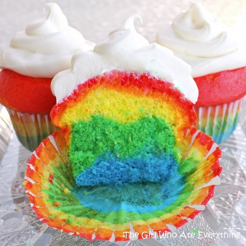 Colourful koekje, cupcake