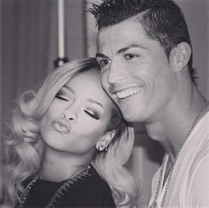 Cristiano and 蕾哈娜