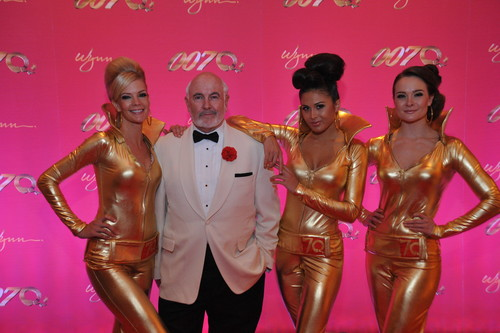 Dennis Keogh as James Bond / Sean Connery with Bond Girls