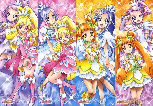 pretty cure 壁纸 with a stained glass window titled Doki Doki Precure