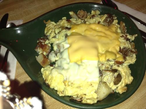Egg, potato, cheese