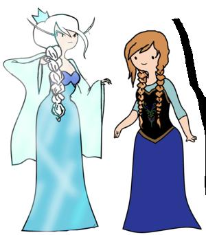 Elsa and Anna