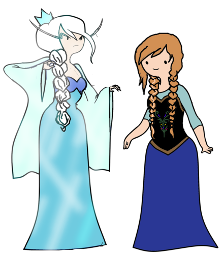 Elsa the Snow Queen karatasi la kupamba ukuta possibly with anime called Elsa and Anna