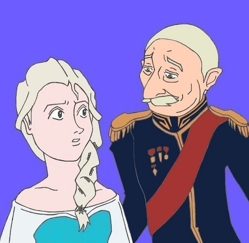 Elsa and The Duke of Weselton