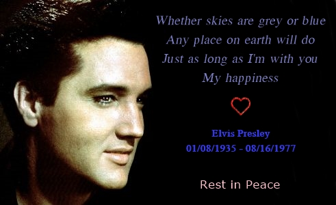 Elvis Presley's 36th Anniversary ಇ