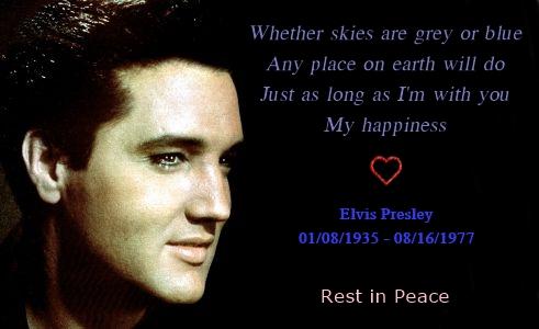 Elvis Presley's 36th Anniversary ಇ