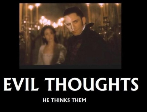 The Phantom Of The Opera wallpaper called Evil thoughts - he thinks them
