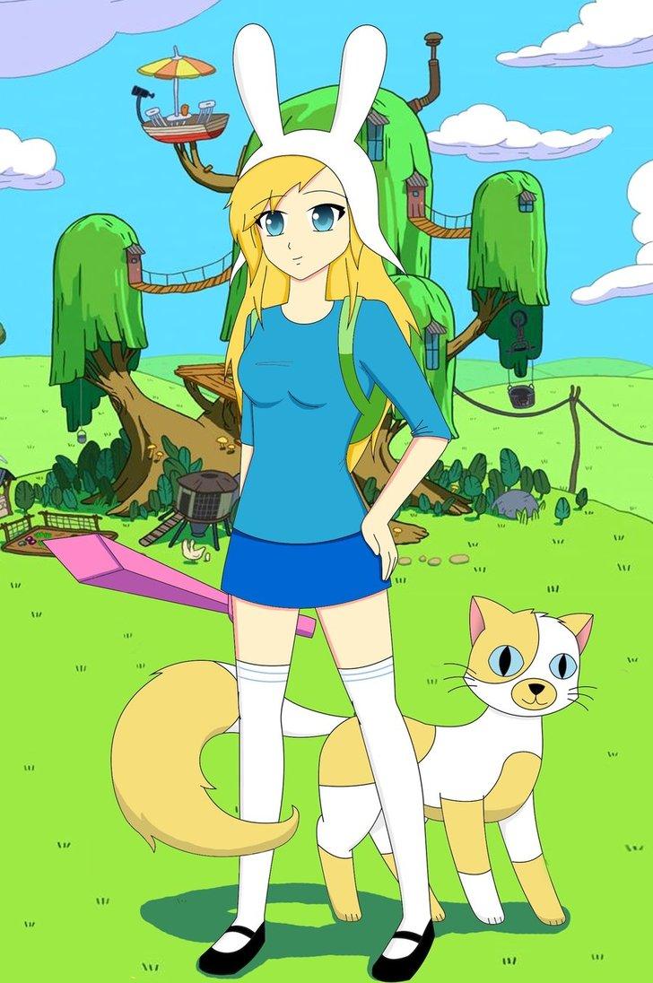 Adventure time fionna and cake anime