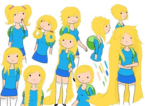 अड्वेंचर टाइम वित फिन आंड जेक वॉलपेपर probably with ऐनीमे called Fionna: fun with hair. :3