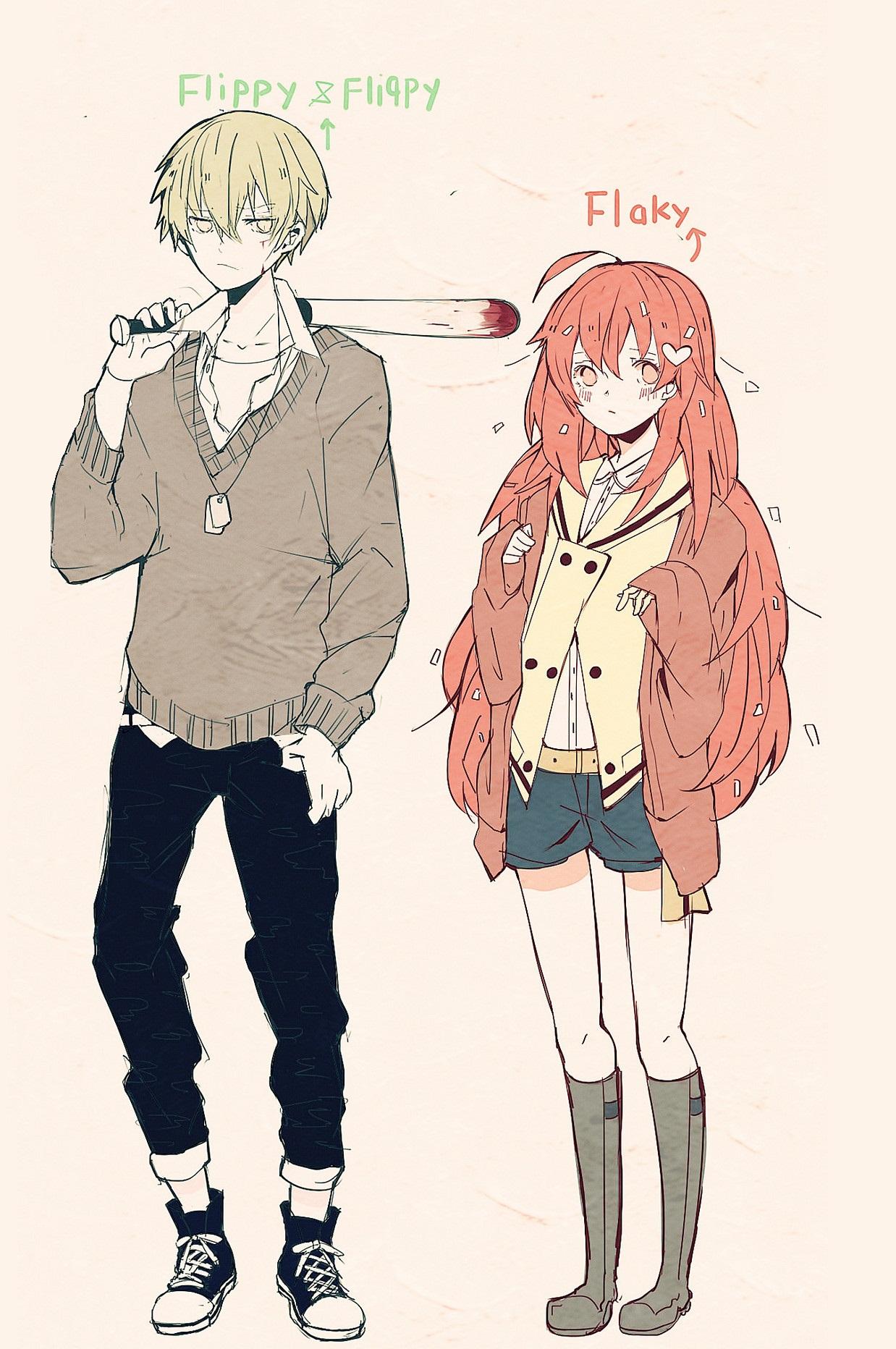 Flippy and Flaky highschool anime - Flippy x Flaky Photo ...
