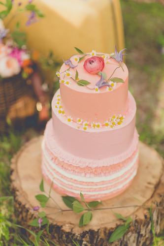 Fruit-Flower cake