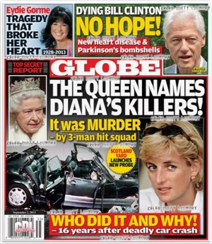 GLOBE: 皇后乐队 Elizabeth Names Princess Diana's Killers