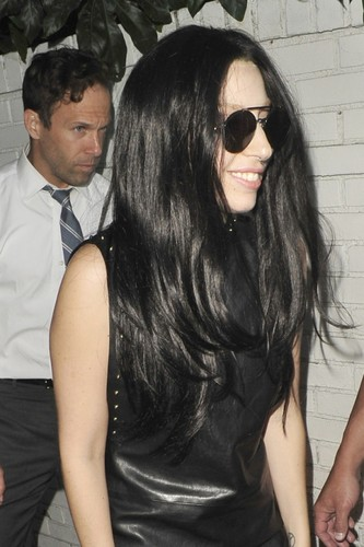 GaGa Arriving at castillo, chateau Marmont, Los Angeles (August 17)