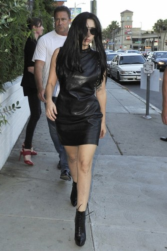 GaGa Arriving at chateau Marmont, Los Angeles (August 17)