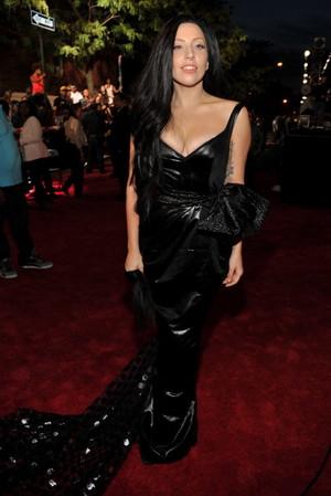 GaGa arraving at the एमटीवी VMA (August 25)