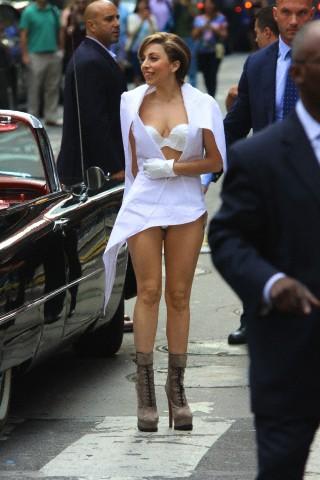 Gaga Heading to Times Square (Aug. 19)