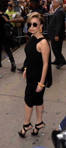 Gaga leaving Good Morning America (Aug. 19)