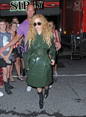 Gaga leaving a music studio in New York (August 22)